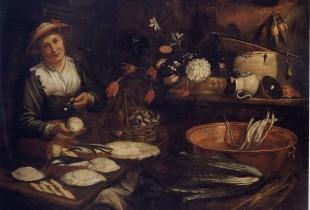 Cuoca che prepara la torta di mele (Musei di Strada Nuova)