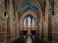 Il ciclo di affreschi dio Giotto e Cimabue nella basilica superiore