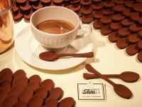 I famosi cucchiaini da caffè di cioccolato fondente