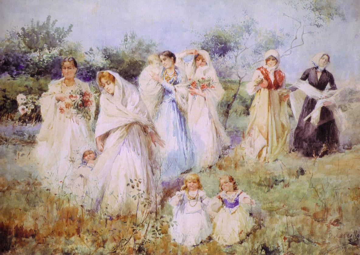 I Cascella. Basilio, Tommaso, Michele, Gioacchino