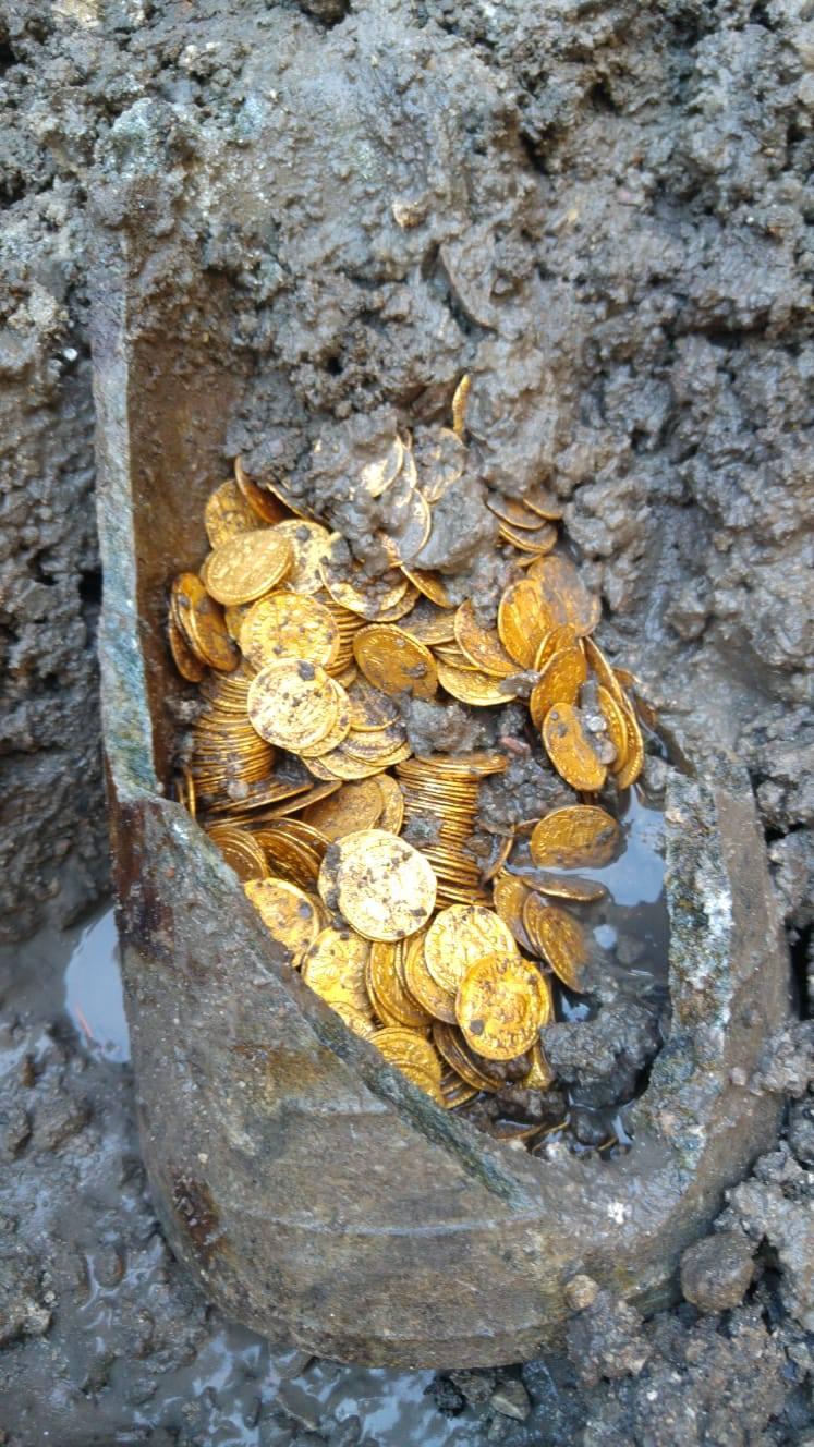 Ritrovato un tesoro di monete d'oro di tarda epoca imperiale